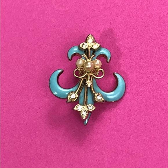 corro Jewelry - Blue with gold Corro pendent